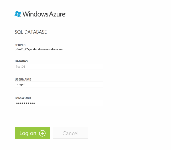 Connecting to SQL Azure from SSMS and SSDT - Step0