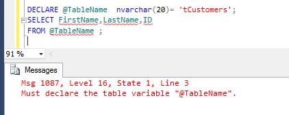 Dynamic SQL in SQL Server - Step3