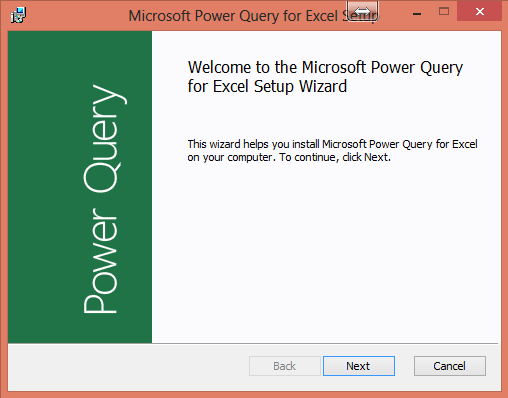SQL Azure and Excel Power Query -Step1