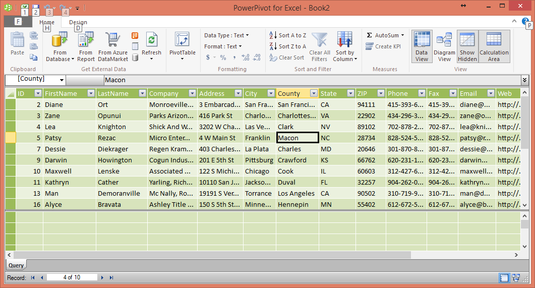 SQL Azure and PowerPivot -Step7