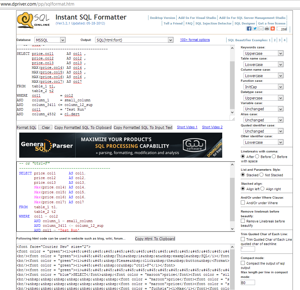 SQL Indentation Tools-Step4