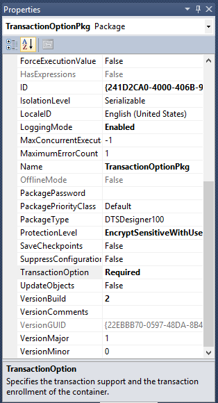 how to maintain transaction in ssis