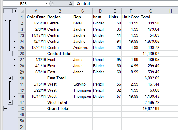 Skipping Excel Sub Total Rows in SSIS - Step1