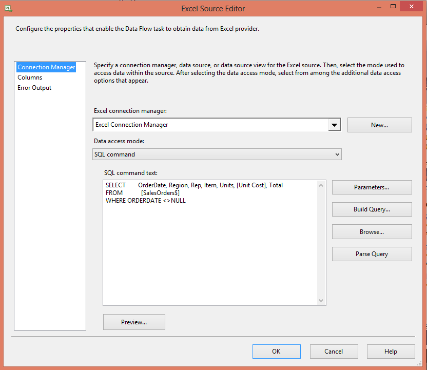 Skipping Excel Sub Total Rows in SSIS - Step3