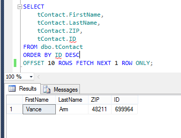 filtering data with offset fetch-Step 4
