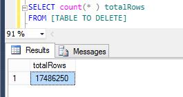 delete all rows in sql server