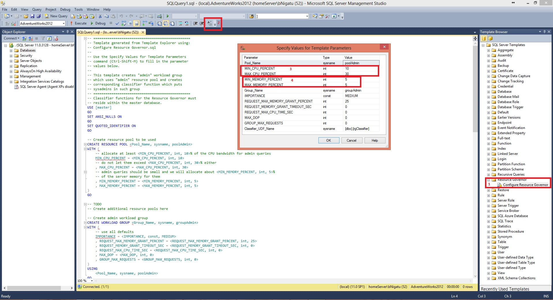SQL Server 2014 IO Resource Governance Step 1