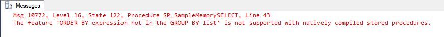 Natively Compiled Stored Procedure Step3