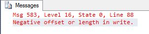 SQL Server update .write clause
