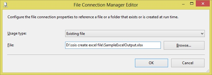 ssis create excel file Different FIleName Step6