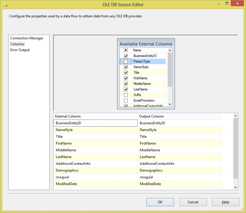 ssis create excel file Step10