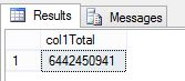 SUM and COUNT BIGINT values in SQL Server