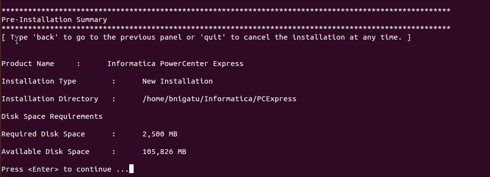 Installing Informatica Power Center on Ubuntu 13.10 -Step12