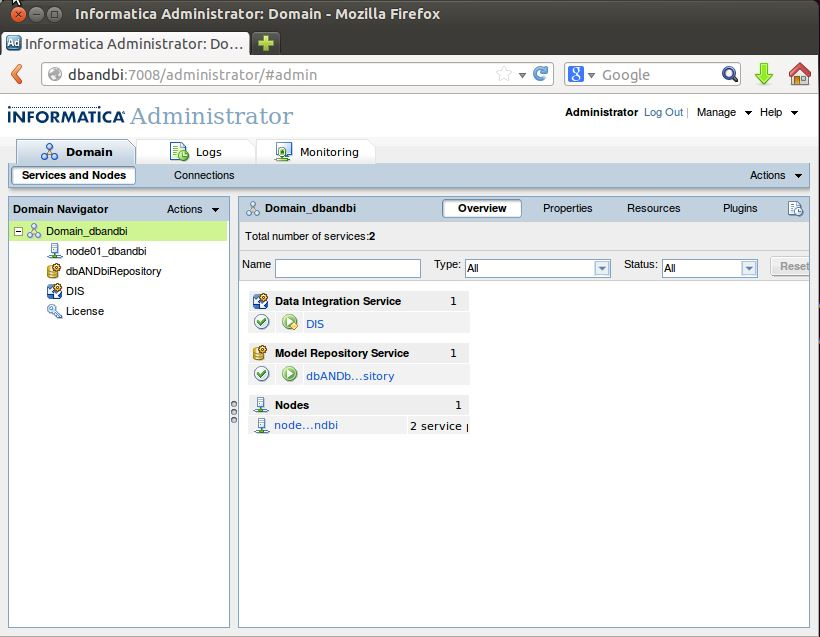 Installing Informatica Power Center on Ubuntu 13.10 -Step17