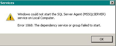 Windows could not start the SQL Server