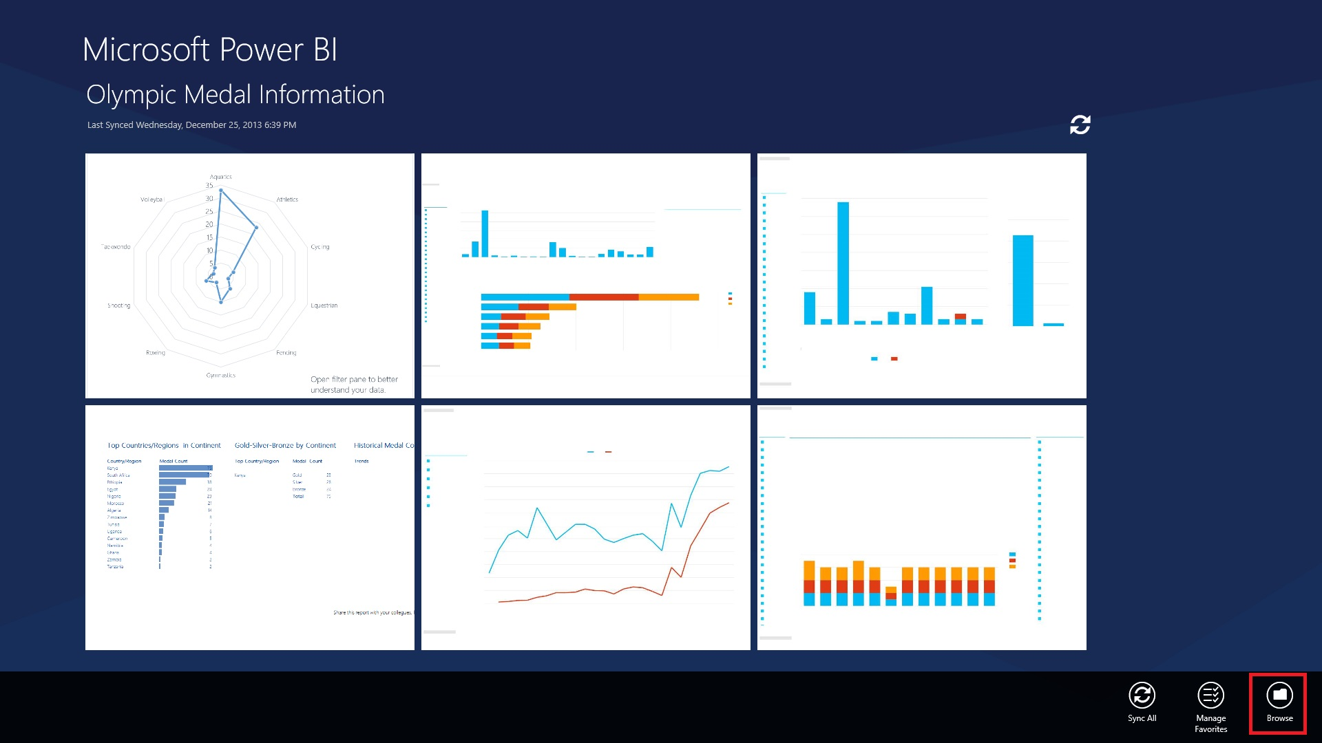 Power BI Mobile Application